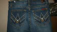 """7 Seven For All Mankind """"A"""" Pocket Straight Mid Rise Jeans  Womens Sz 26 26X30"""