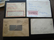 EUROPE - 4 enveloppes sans timbres (cy76)
