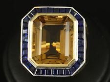 Auffälliger Citrin Saphir Ring ca 22,70ct große Ringweite 64  27,7g 750/- GG