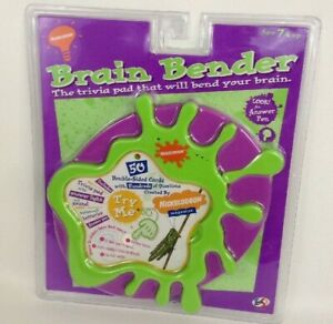 Nickelodeons Brain Bender Trivia Game Control Base with Pad Vintage 1995 Sealed