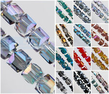 20pcs 10mm Cube Square Faceted Crystal Glass Spacer Loose Beads Charms Findings