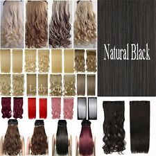 New Clip In Hair Extensions MEGA THICK One Piece Full Head Brown Blonde Gray TD5