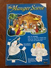 Vintage Manger Scene Punch-Out Book - Unpunched!