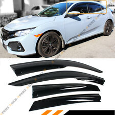 FOR 2016-18 HONDA CIVIC FK HATCHBACK 3D WAVY WINDOW VISOR RAIN GUARD DEFLECTORS