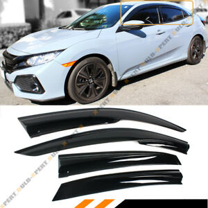 FOR 2016-2021 HONDA CIVIC FK HATCHBACK 3D WAVY WINDOW VISOR RAIN GUARD DEFLECTOR