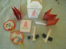 Chinese take-out for 2 mini kit inc paper lanterns, chopsticks, holder, fortunes