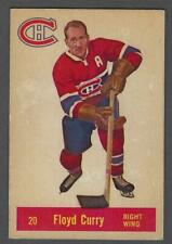 1957-58 Parkhurst Montreal Canadiens Hockey Card #M20 Floyd Curry