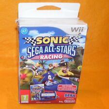NINTENDO Wii SONIC & SEGA ALL-STARS RACING GAME + DRIVING WHEEL CONTROLLER PAL
