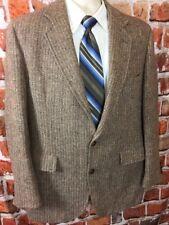 Vintage Harris Tweed Mens Blazer Sport coat Wood Buttons Sz 40-42 (t6)