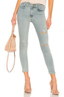 $225 NEW Rag & Bone High-Rise Ankle Skinny Jeans in Norlet (Distressed) - 24