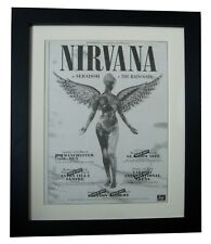 NIRVANA+IN UTERO TOUR+POSTER+AD+COBAIN+FRAMED+ORIGINAL 1994+EXPRESS GLOBAL SHIP