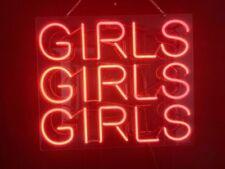 "New Girls Girls Girls Red Neon Light Sign Acrylic 24"" Lamp Beer Pub Artwork"