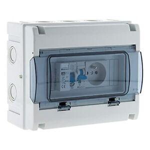 Coffret électrique étanche IP65 8 modules équipé livré avec accessoires - Zenite