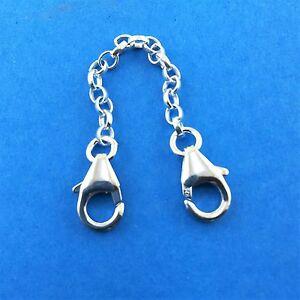 925 Sterling Silver Belcher Strong Chain Safety Extender Necklace Bracelet