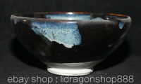 """7,2 """"Ancienne Dynastie chinoise Song Dynasty Jian Kiln Porcelain Palace Bowl Cup"""