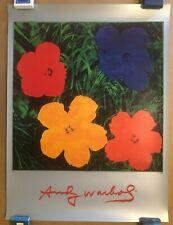 ANDY WARHOL FLOWERS OFFSET LITHOGRAPH POP ART POSTER PRINT 1999 MINT SCARCE
