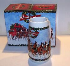 2009 BUDWEISER CHRISTMAS STEIN'S - W / BOXES -CS-699 2 FOR THE PRICE OF 1 $20.00