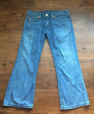 True Religion Mens Light Wash Cotton Billy Big T Cotton Jeans Size 38 x 33