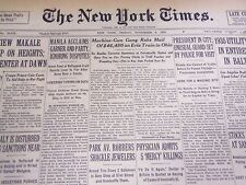 1935 NOVEMBER 8 NEW YORK TIMES - MACHINE GUN GANG ROBS MAIL OF $46,450 - NT 4868