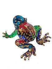MINIATURE FROG HAND BLOWN GLASS ART FROG FIGURINE ANIMAL SOUVENIR GIFT