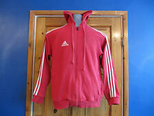 MENS ADIDAS HOODIE,  RED  , SIZE S