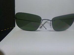 Silhouette 8610 Sunglasses M. 8610 C. 6127 Green Polarized Sunglasses