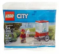 Lego City NEW 30364 Popcorn Cart polybag 2019 concession theme park snacks food