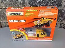 Matchbox Mega-Rig - Rescue Squad Helicopter Playset Very Rare Nib