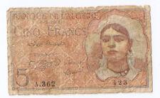 New listing Algeria 5 francs 8.2.1944
