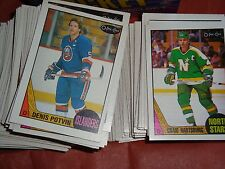 LOT OF 2 1987-88 O-PEE-CHEE NHL HOCKEY NEAR SETS BOTH 233/264 GREAT STARTER SETS