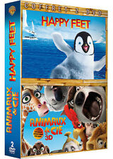 13173 // COFRET 2 DVD HAPPY FEET + ANIMAUX & CIE NEUF SOUS BLISTER