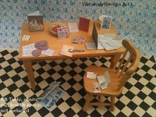 Victorian Dolls House Miniature Repro 1/12th Hand Made Kitchen Set A Recipes etc
