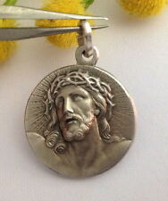 "925 STERLING SILVER "" HECCE HOMO-HOLY FACE "" MEDAL - MASTERPIECE OF ITALIAN ART"