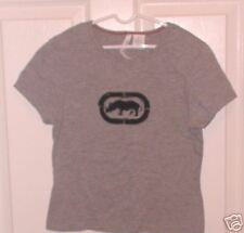 "Gray Top Appliqued Rhinocerous Embroidered Eckored S Chest 32"" Length 19"""