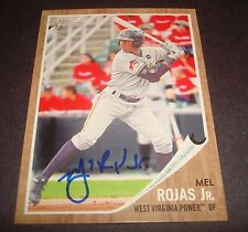 Mel Rojas Jr. Power Pirates  2011 Topps Heritage #98 Signed Authentic Auto DB