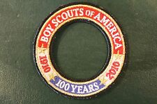 BOY SCOUT COMMEMORATIVE 100 YEARS OF SCOUTING CREST RING PATCH > 1910 2010 - BSA