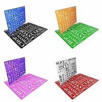 Slice Cook Cut Chop Wording Tempered Glass Chopping Board - Various Colours