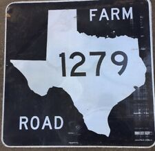 Old Authentic Retired TEXAS 1279 SIGN Highway Oil Gas (24X24) Lone Star