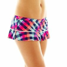 53a2c0cc45 womens JUNIORS large ARIZONA swim skirt swimsuit BOTTOM checkered NWT