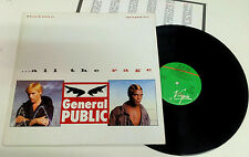 "General Public ‎""All The Rage"" LP Virgin ‎– V2324 ITALY 1984 INNER SLEEVE"