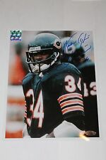 "WALTER PAYTON SIGNED CHICAGO BEARS ""RAIN"" 16,726 inscription 8X10 PHOTO STEINER"