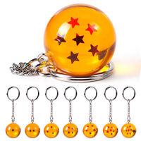 Dragon Ball Z DBZ Cosplay Crystal Ball 7 Stars Keychain Keyring Pendant Gifts YK