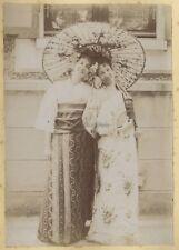 Déguisement Femmes Vélo France Japon Quatre (4) Photographies Vintage c1900