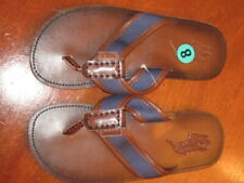 NEW $79 RALPH LAUREN classic POLO LOGO Sullivan LEATHER Flip Flop Mens 8 D