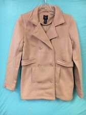 NWT Forever21 Girls Dusty Light Pink Sweater Pea Coat SZ.13/14