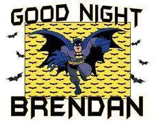 "BATMAN Personalized PILLOWCASE #2 ""GOOD NIGHT"" Any NAME Printed Super Soft"