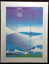 """1972   Olympic Poster  MUNICH,  GERMANY 12"""" x 16"""""""