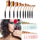 1/10Pcs Beauty Oval Cream Puff Cosmetic Makeup Brushes Set & Kabuki Toothbrush