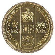 Australia 2003 QEII Coronation Golden Jubilee 50c UNC Coin RAM in Capsule/Carded