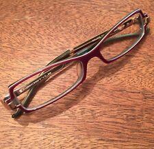 6ff11341bd NEOSTYLE Germany College 345 Purple Green Plastic Eyeglasses Frames Glasses  50